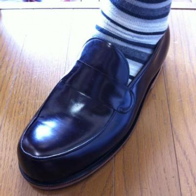FB シューネクスト 型紙講座で習った型紙を実際に靴に仕上げました。作ってみて実感すること、ありますよね。 ガラス仕上げでピカピカ!